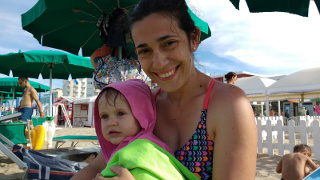 Silvia e Bea in spiaggia