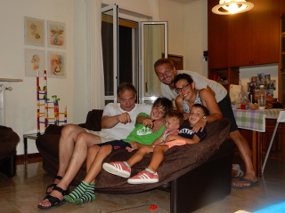 Foto di gruppo, dopo cena